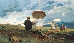 Homer-Winslow-Artists-Sketching-in-the-White-Mountains-1868